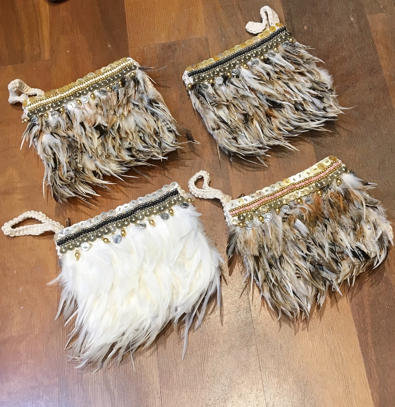 Tribal Feather Clutch