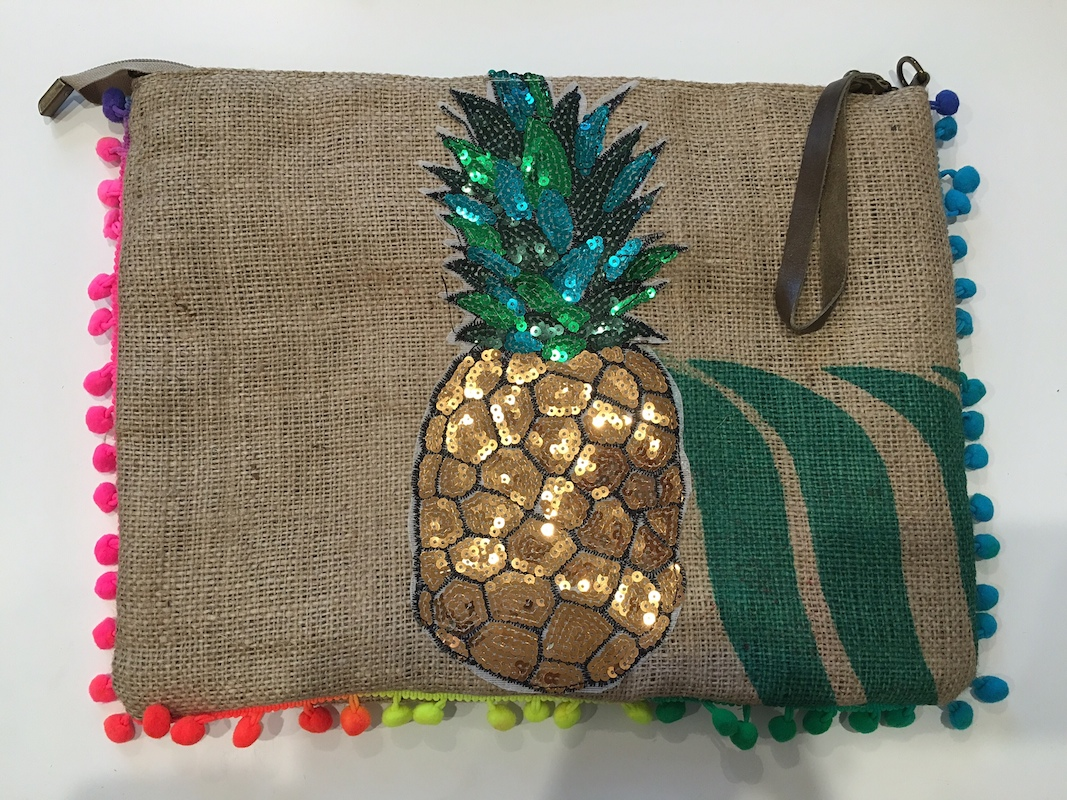 Recycled Hessian Coffee Bag - Pineapple