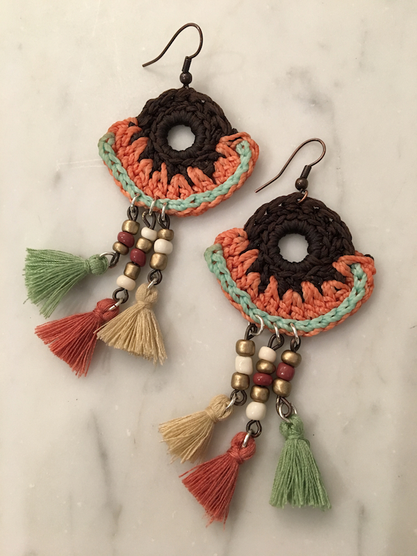 Spanish Crochet Gypsy Earring