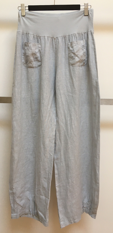 Linen Pant With Vintage Pocket Detail