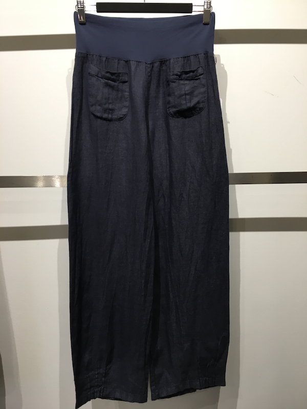 Linen Pant With Inverted Pleat Pocket
