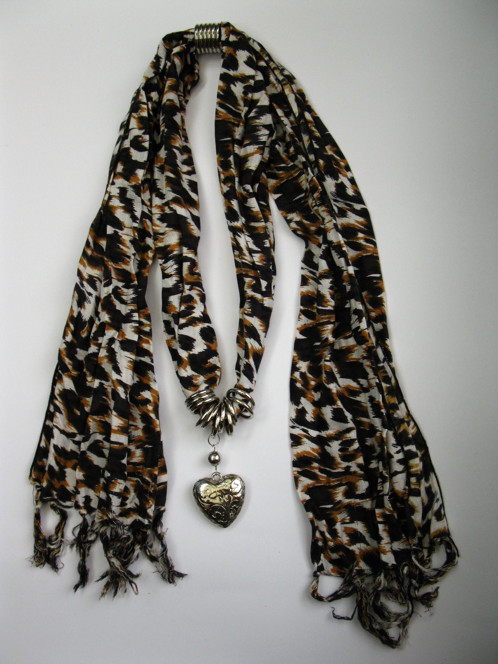 Charm Scarf Heart Assorted Colours