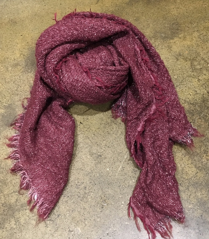 Wool/Cotton Blend Scarf With Lurex