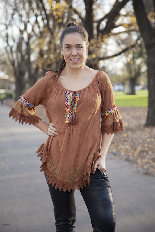 Bohemian Gypsy Top With Embroidery and Lace