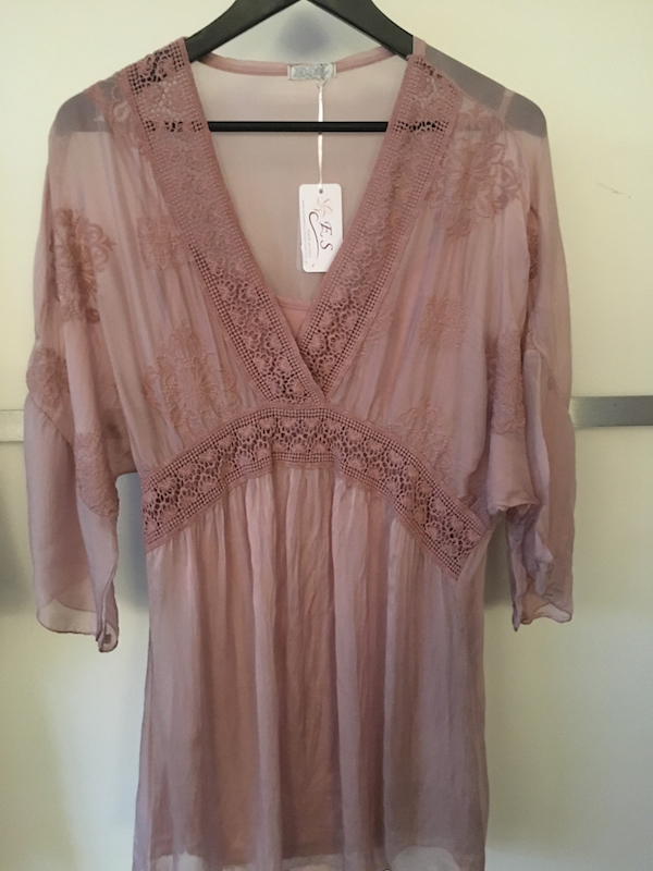 V Neck Tunic with Lace Detail