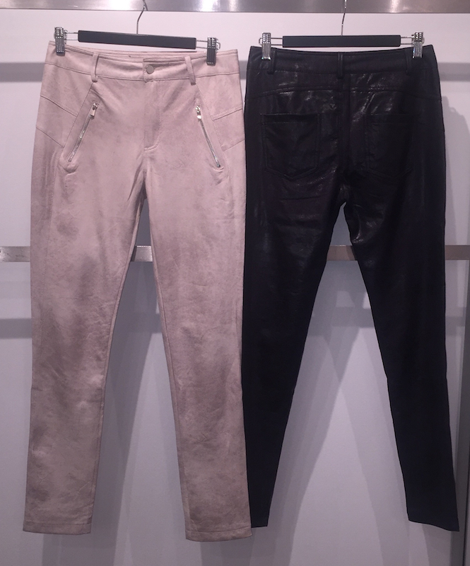 Vintage Wash Effect Fly Front Pants